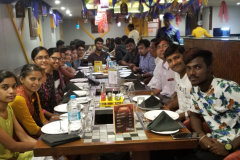 The United Labs team in India at a corporate dinner
