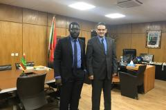 UNITED General Partner Bachir Diagne with Mauritania Minister of Economy