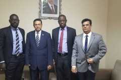 The UNITED team with the Governor of the Central Bank of Mauritania